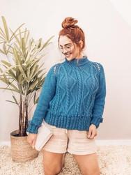 Indigo Cable Sweater