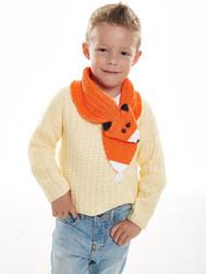 Long Sleeve Sweater with Fox Collar