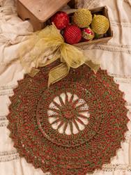 Natural Cotton Sparkle Christmas Doily