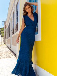 Marine Long Dress
