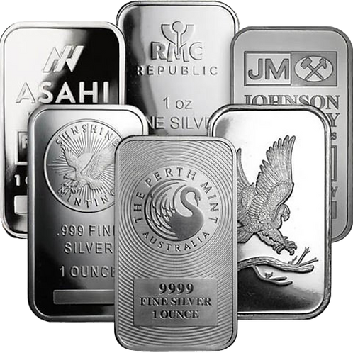 Ag Silver Notable Minted Bars Eagle - 1ozt