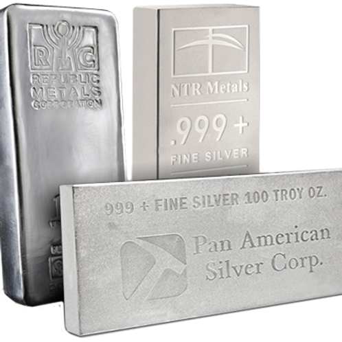 Ag Silver Notable Minted Bars Eagle - 100ozt