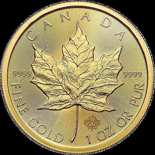Au Gold Maple Leafs - 1ozt
