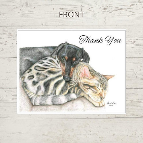 Snuggled Up - Thank you card