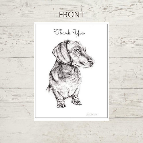 On the lookout - Thank you card