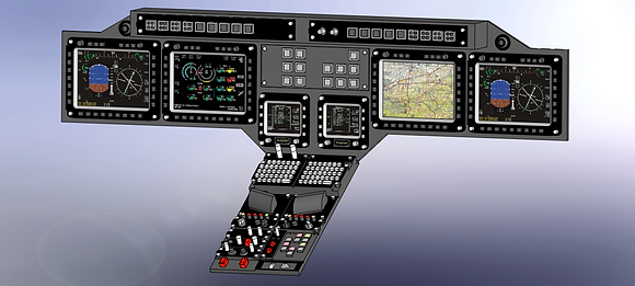 600 size UH-1N Cockpit Panel