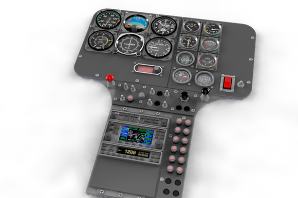 1/4.4 Scale MD-500E cockpit panel