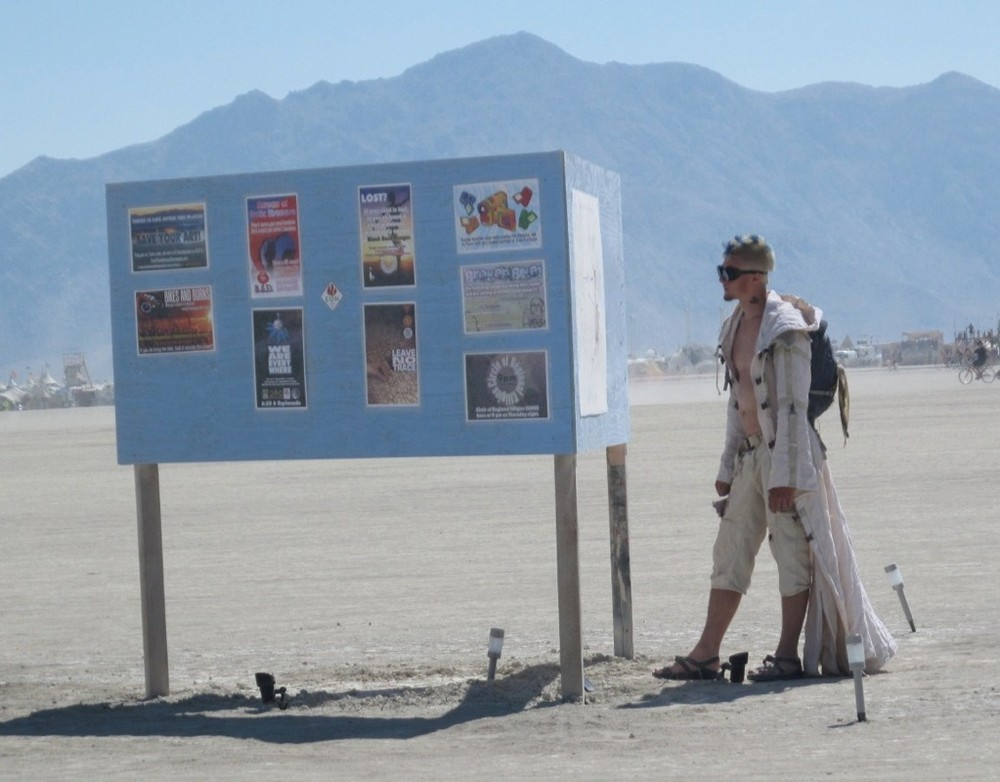 Space boy at Burning Man