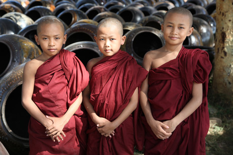 Three Buddhist Monks