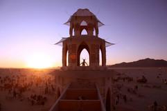 Sunrise at Temple of Transition, Burning Man 2013