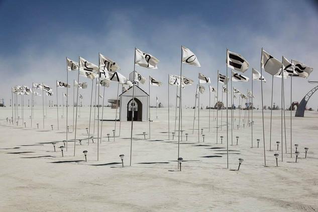 White flags, Burning Man 2013