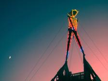 Burning Man in starlight