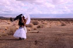 Couple kissing at Afrikaburn