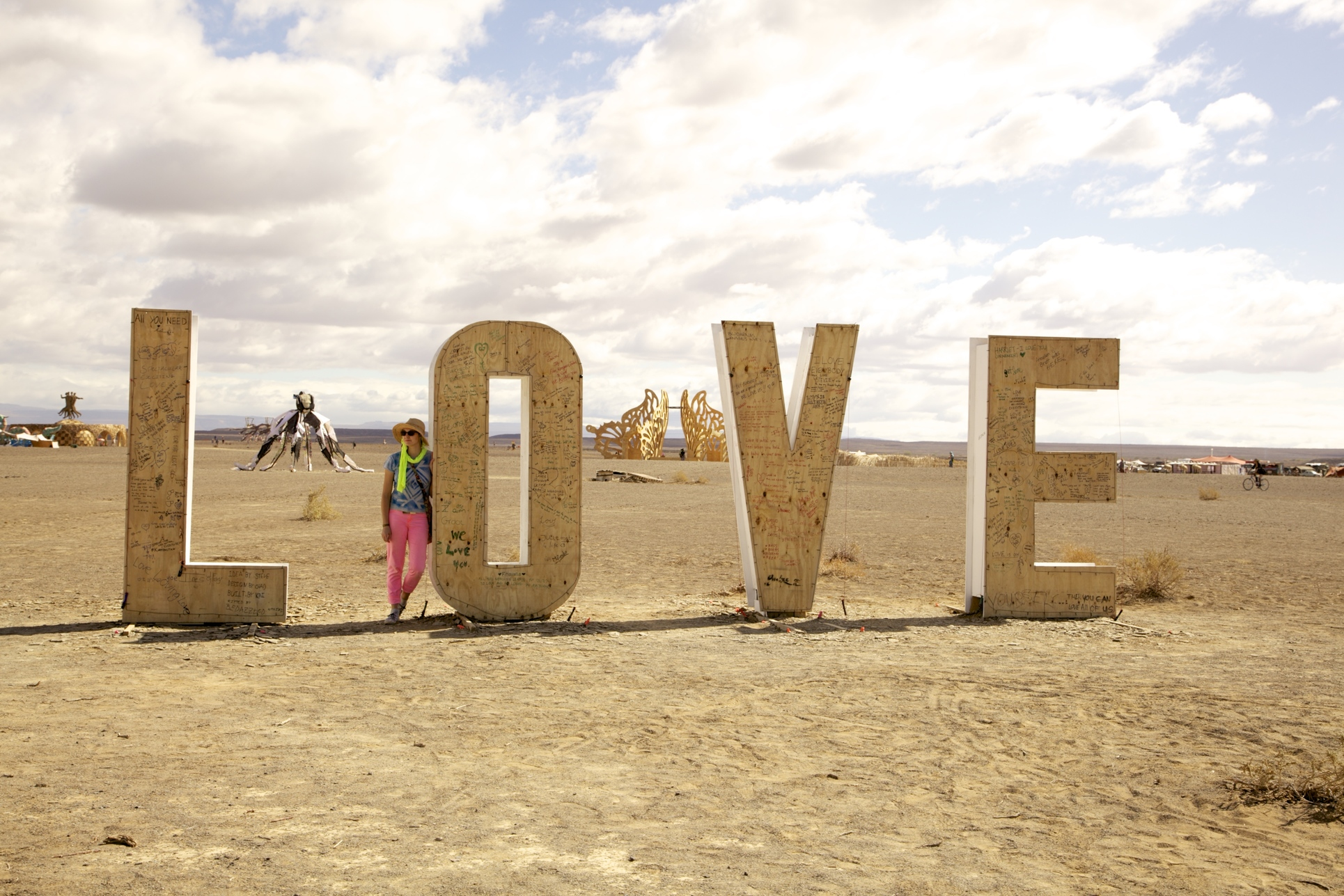 LOVE installation, Burning Man 2013