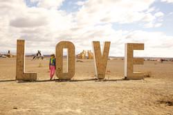 LOVE installation, Burning Man 2013
