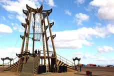 The Lighthouse art installation, Afrikaburn