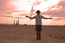 Man with hula hoop, Afrikaburn