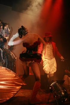 The Circus Master, burleque dancer