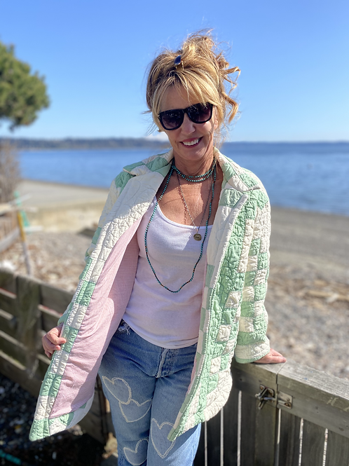 Vintage Irish  Chain Quilted jacket