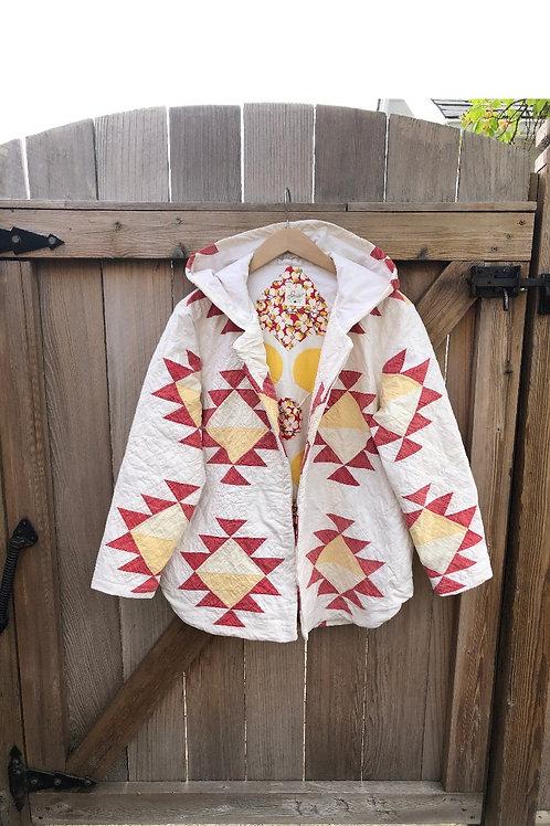 Vintage Aztec Quilt Chore Coat