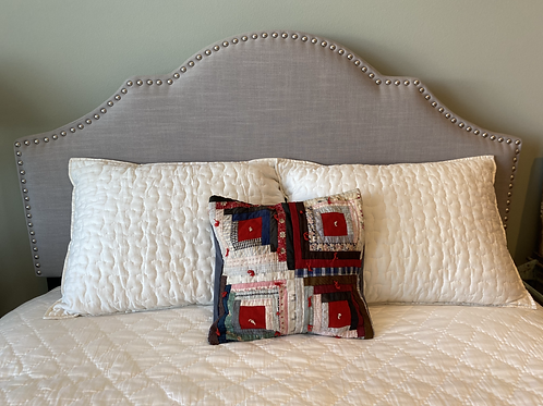 Vintage Wool Cotton Quilt Pillow Cover