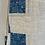 Thumbnail: Vintage Blue & White Cotton Patchwork Quilt Bag