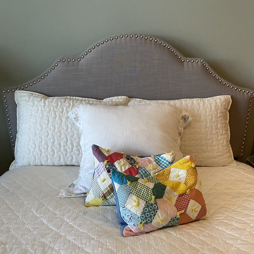 Vintage Hexagon Patchwork Lumbar Pillow Cover