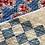 Thumbnail: Vintage Feedsack Blue & White Checkerboard Pillow Cover