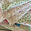 Thumbnail: Vintage Quilted Pastel Striped Pillow Cover