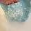 Thumbnail: Vintage Cotton Turquoise & White Blanket Quilt