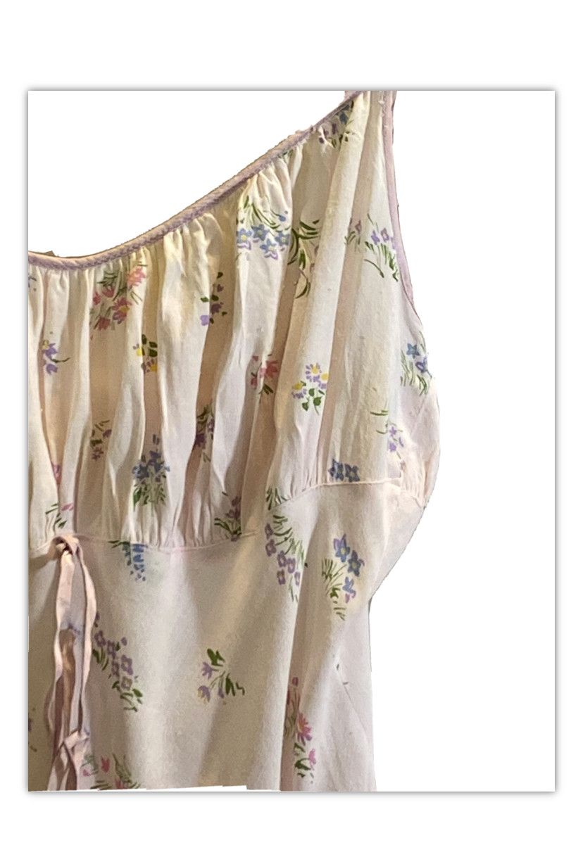 Vintage rayon floral sundress Eye-Ful