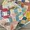 Thumbnail: Vintage Hexagon Patchwork Square Pillow Cover
