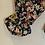 Thumbnail: Black Floral Peasant Blouse