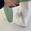 Thumbnail: Vintage Cotton Green & White Embroidered Animal Quilt