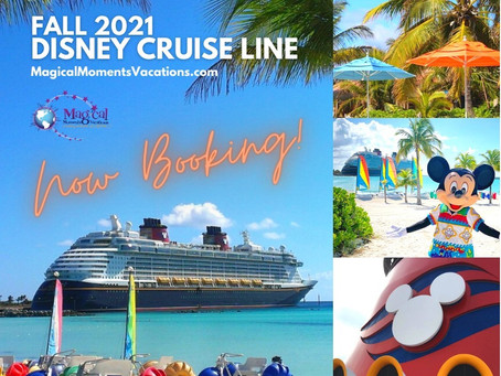 Disney Cruise Line Fall 2021 Itineraries Released - Book Early for Best Pricing!
