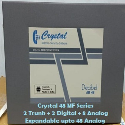 CRYSTAL DIGITAL EPABX MF-48 : 2 TRUNK -2 DIGITAL - 8 ANALOG