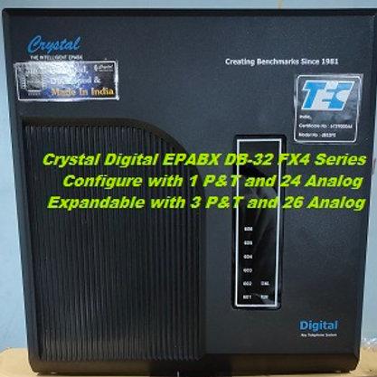 CRYSTAL DIGITAL EPABX DB-32 FX4 -1 P&T AND 24 ANALOG