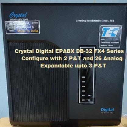 CRYSTAL DIGITAL EPABX DB-32 FX4-2 P&T AND 26 ANALOG