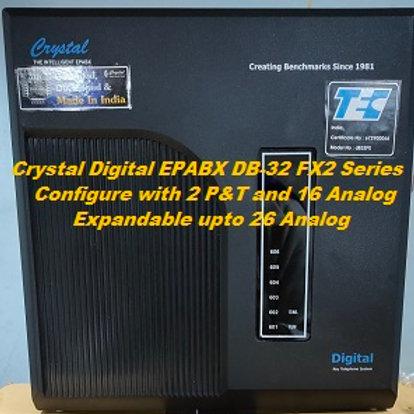 CRYSTAL DIGITAL EPABX DB-32 FX2-2 P&T AND 16 ANALOG