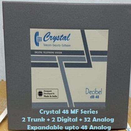 CRYSTAL DIGITAL EPABX MF-48 : 2 TRUNK -2 DIGITAL - 32 ANALOG