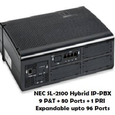 NEC SL-2100 Hybrid EPABX System 9 P&T + 80 Ports