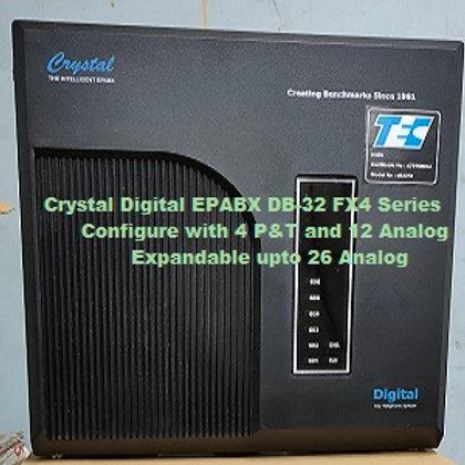 CRYSTAL DIGITAL EPABX DB-32 FX4 -4 P&T AND 12 ANALOG