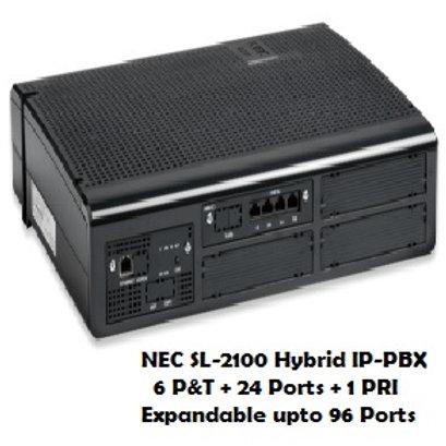 NEC SL-2100 Hybrid EPABX System 6 P&T + 24 Ports