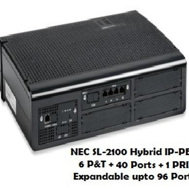NEC SL-2100 Hybrid EPABX System 6 P&T + 40 Ports