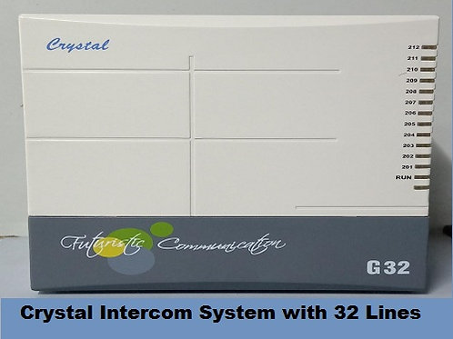 Crystal G-32 Intercom System with 32 Lines only