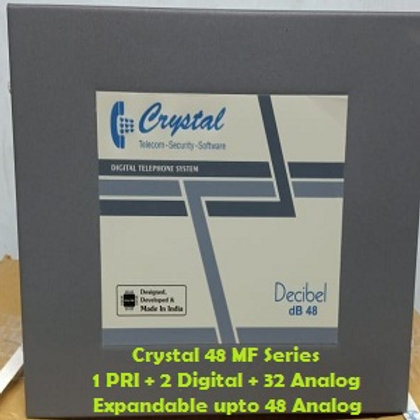 CRYSTAL DIGITAL EPABX MF-48 : 1 PRI -2 DIGITAL - 32 ANALOG
