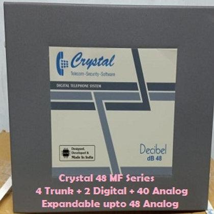 CRYSTAL DIGITAL EPABX MF-48 : 4 TRUNK -2 DIGITAL - 40 ANALOG