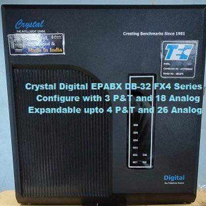 CRYSTAL DIGITAL EPABX DB-32 FX4 -3 P&T AND 18 ANALOG