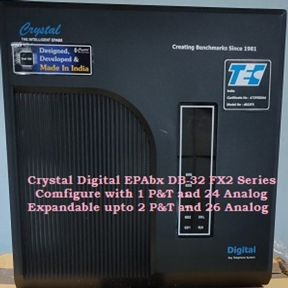 CRYSTAL DIGITAL EPABX DB-32 FX2-1 P&T AND 24 ANALOG