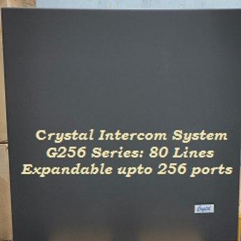 CRYSTAL G256 SERIES INTERCOM SYSTEM- 80 Lines